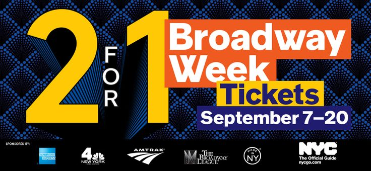 Broadway Week – New York City – 2-for-1 Tickets  Why. Why do I not live in NYC? D: