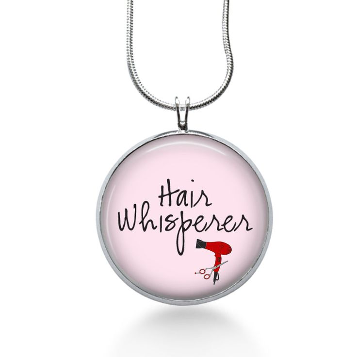 Hair stylist necklace- Hair whisperer -beautician-stylist gift #Handmade #Pendant