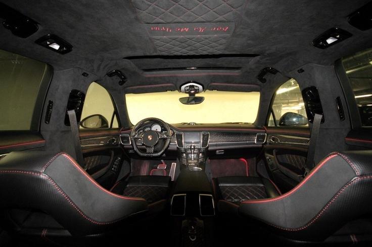 Blacked-out Porsche Panamera by Anderson Germany: Stellar Interiors, Porsche Panamera, Visual Diary, Anderson Germany, Blacked Outs Porsche, Blackedout Porsche