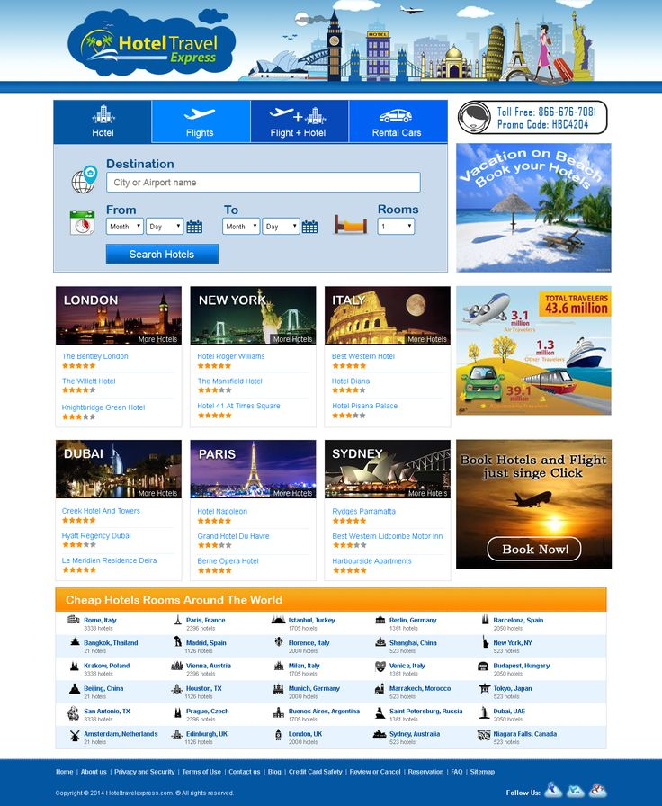 Travel booking designs with third party search engine