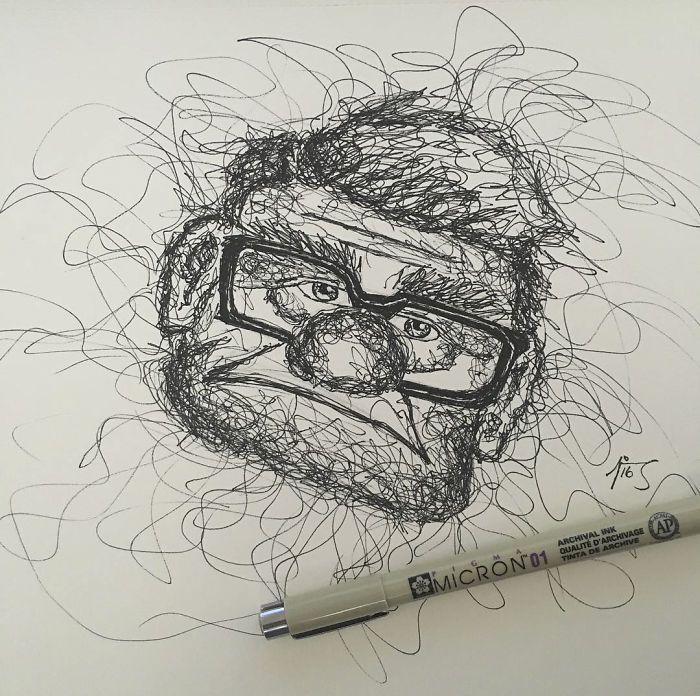 As ilustrações de Jimmy Mätlik chamam a atenção por seu estilo rabiscado. O mais legal é que ele descobriu o estilo por acaso. Confira!