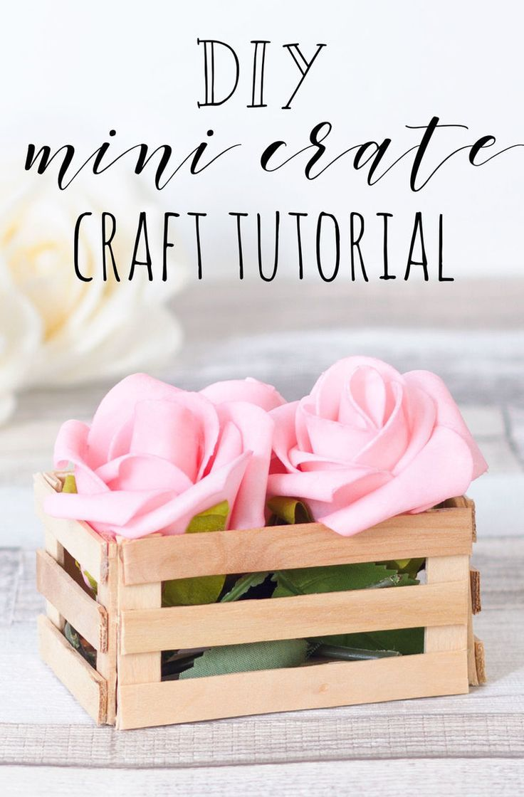 Make a rustic wooden crate out of lolly/popsicle sticks to keep small flowers in…  – Crafts
