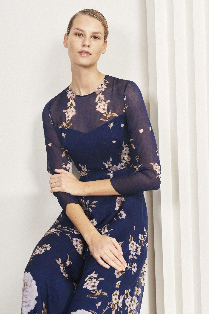 cb6ebfe73 Winsley Maxi Dress Bloom Print Silk Chiffon | Event Dressing ...