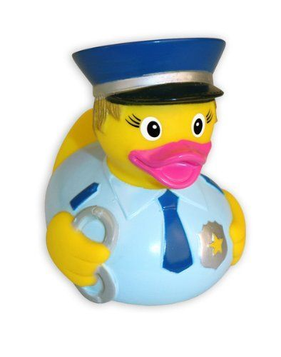 Rubber Duckie Female Police Officer Duck Lady Cop Duck