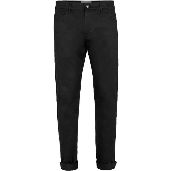 Premium Black Skinny Chinos - Topman ❤ liked on Polyvore featuring men's fashion, men's clothing, men's pants, men's casual pants and topman