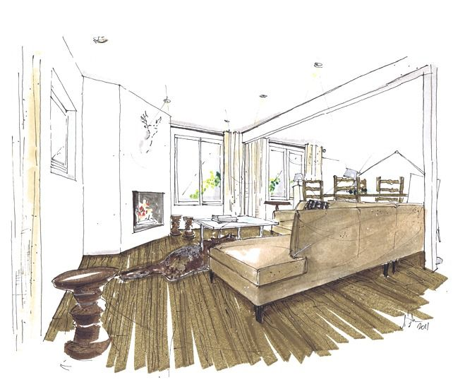 Best Interior Design Sketches Images On Pinterest Interior