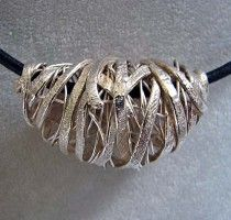 Susan Shahinian | Cocoon Bead-PMC & fine silver wire