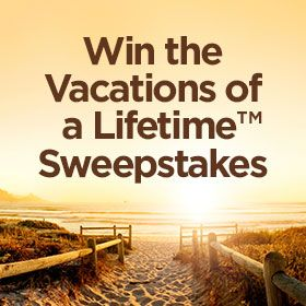 I just entered the Diamond Resorts International® Vacations of a Lifetime™ Sweepstakes for a chance to win up to 5 weeks of vacations! Enter Here.