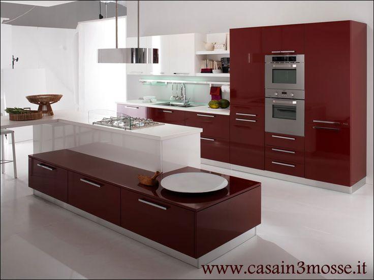 Cucina moderna con penisola 02 cucine pinterest cucina - Cucina moderna con penisola ...
