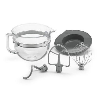 KitchenAid 6-Qt. Glass Bowl With Lid & Mxing Tools #williamssonoma
