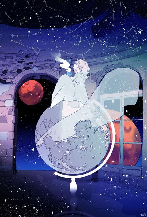 「宇宙人に会いたい」/「まがた」のイラスト [pixiv]