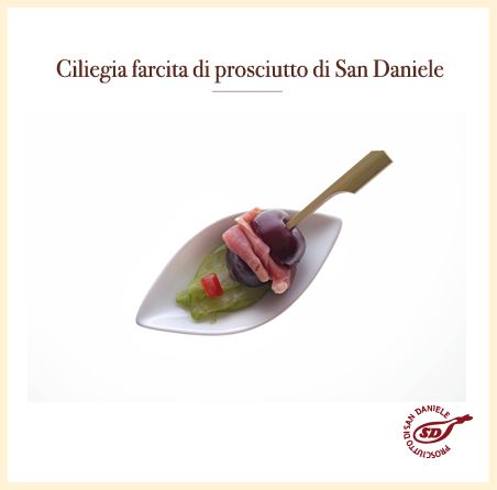 #ciliegia farcita al #prosciutto di #sandaniele http://www.prosciuttosandaniele.it/home_prosciuttosandaniele.php?n=397&l=it