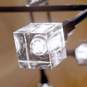 Crystaled LED Bulb Square Clear