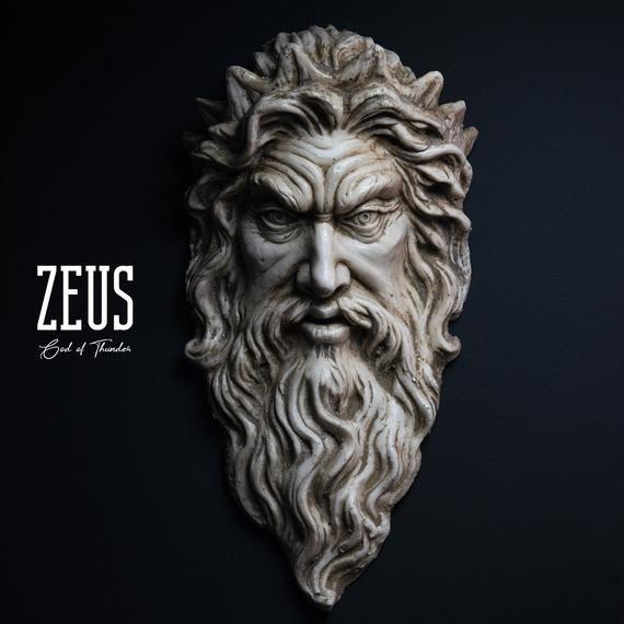 Zeus Sculpture God Of Thunder Wall Art Zeus Figure Etsy Greek Mythology Tattoos Zeus Tattoo Zeus Statue