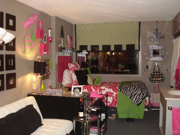Pink And Green College Style This Is My Daughter Her Roommates First Dorm