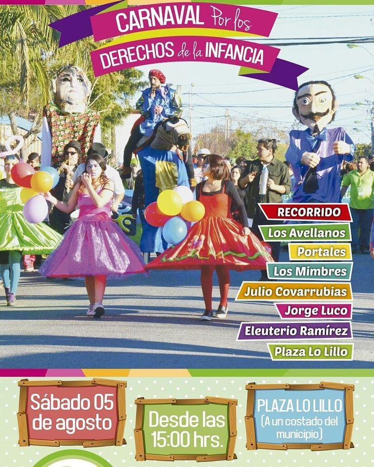 Este sábado 5 de agosto celebramos el Día del niño y la niña en Plaza Lo Lillo desde las 15 hrs NO FALTES!