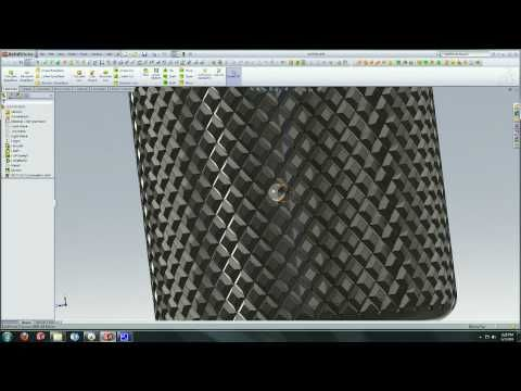 Solidworks Tutorial : Creating a Knurl Surface - YouTube