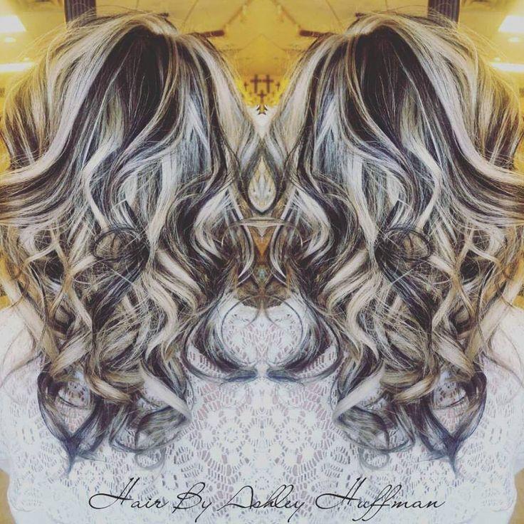 Platinum Blonde Highlights With Dark Chocolate Brown Low Lights