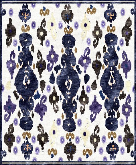 Amazing Navy Ikat Rug From Custom Cool