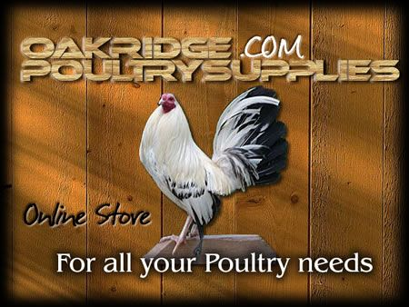 Poultry Supply Store - Oakridge Gamefarm - A Poultry Community - Poultry Gamefowl Auction - Poultry Supply Store - Gallery Forum Chat