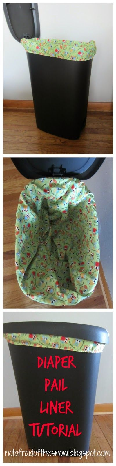 DIY Cloth Diaper Pail Liner Tutorial  Just 3 straight lines!