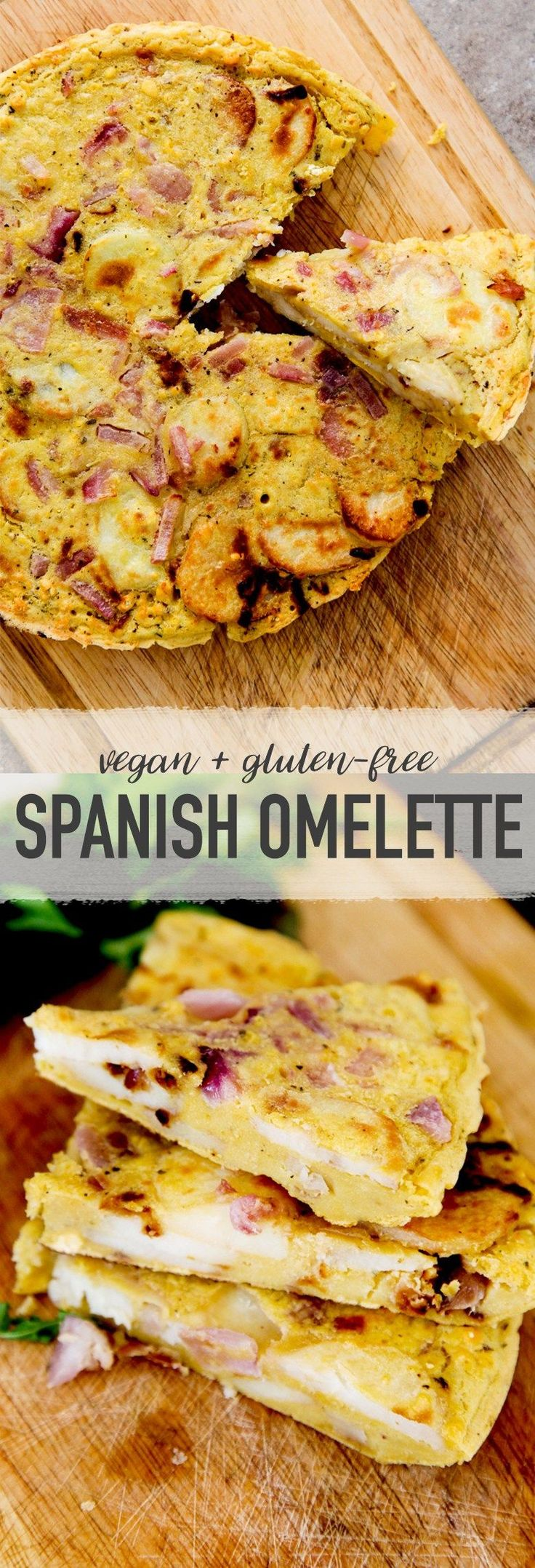 Don't miss this vegan spanish omelette—made from chickpea flour! It's so simple, while also being delicious and comforting!