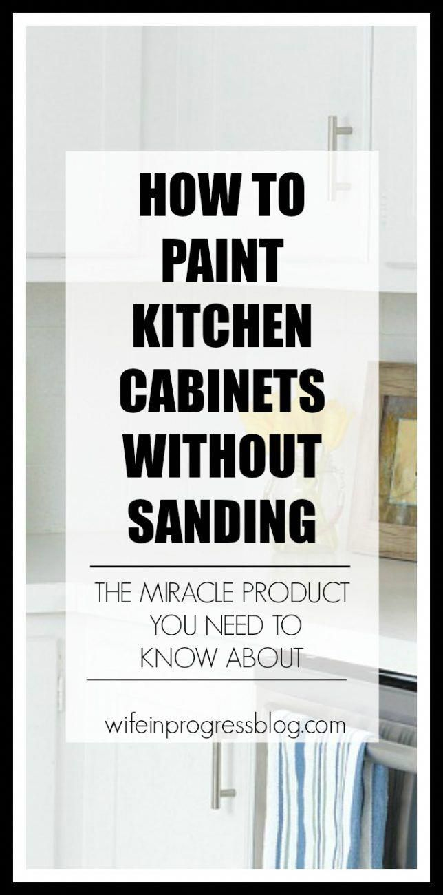 Paint kitchen cabinets without sanding or priming this miracle