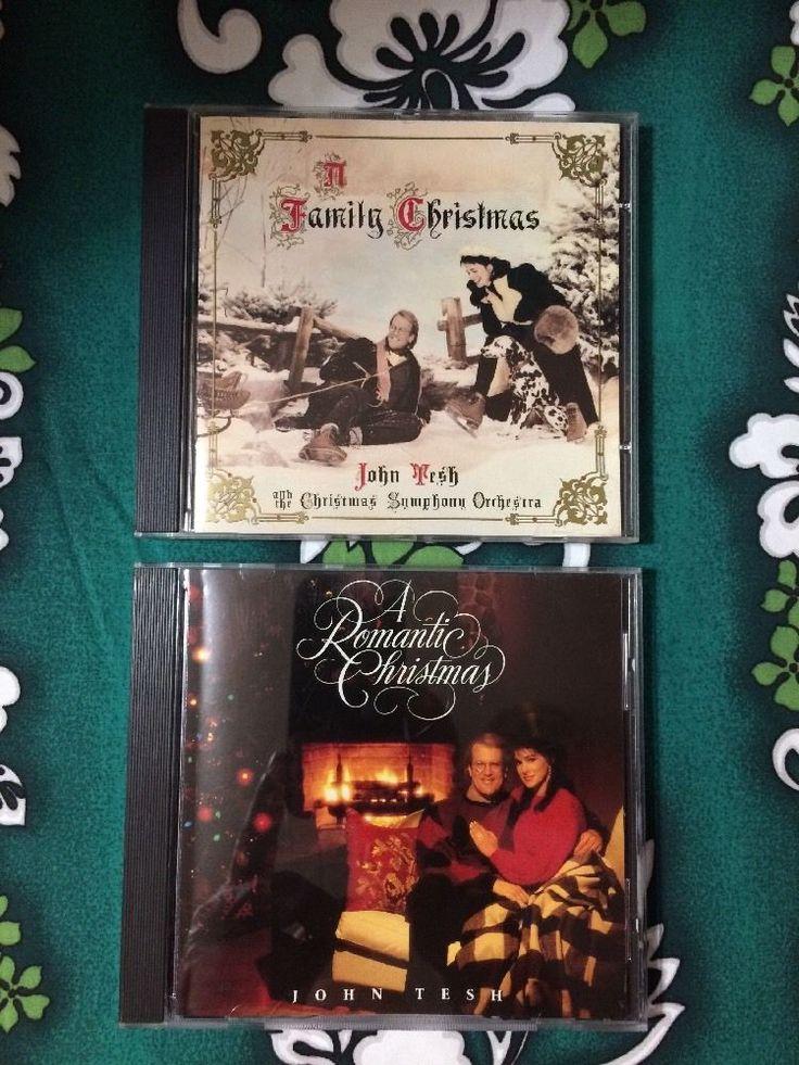 2 John Tesh Christmas CDs: A Family Christmas & A Romantic Christmas