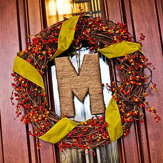 Monogrammed Wreath: Monogram Wreath, Bittersweet Wreath, Wall Decor, Holiday Wreaths, Monogrammed Wreath, Monogrammed Bittersweet, Fall Wreaths