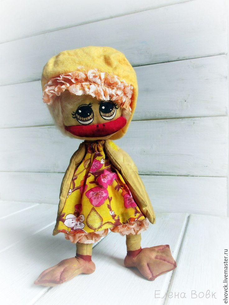 Купить утёнок Гагагля - оранжевый, утенок, игрушка утенок, подарок для детей, интерьерная игрушка