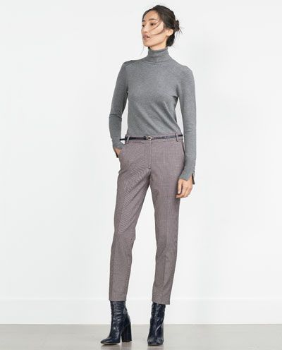 Image 1 of JACQUARD TROUSERS from Zara