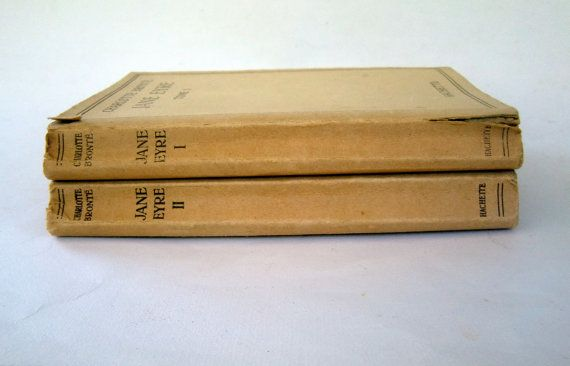 Jane Eyre 1948 Books in French Tome I and II Jane by FrenchCandy, €12.00