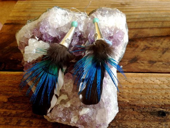 Matching Set Feather Earrings 2 by littleseaweeds on Etsy