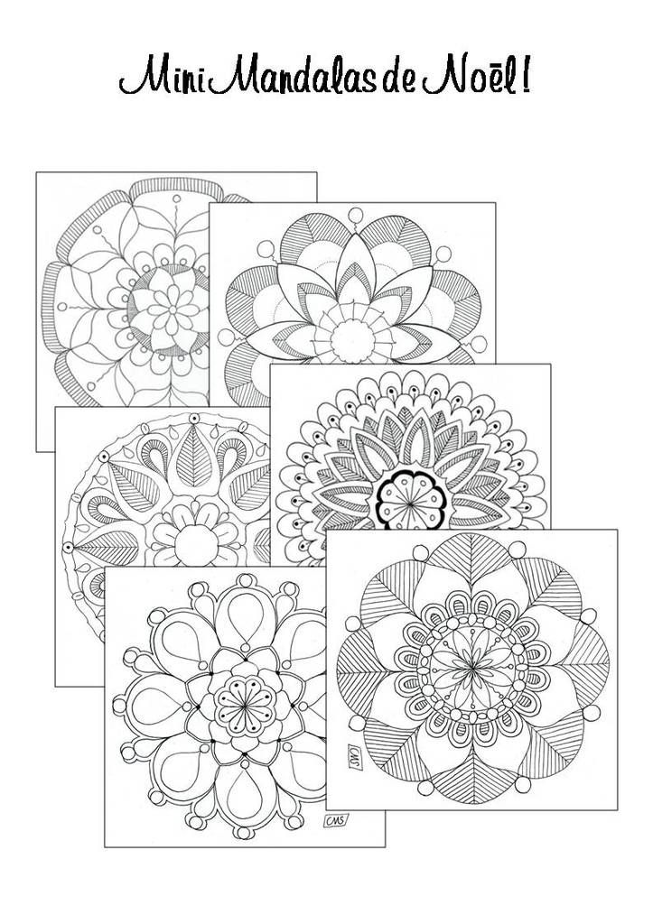 68 best coloriages images on pinterest coloring pages bullet journal and doodle drawings - Mandalas cycle 3 ...
