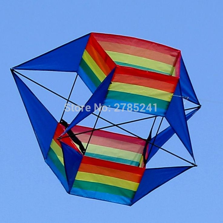 39 inch 3D rainbow Flower Kite Single Line Outdoor sports Toy stereo box kites for Kids