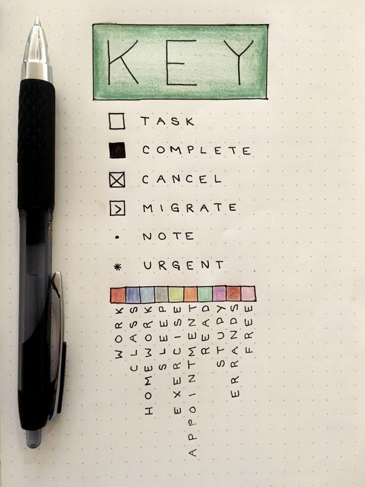 bullet journal | Tumblr (love the color-coding blocks!)