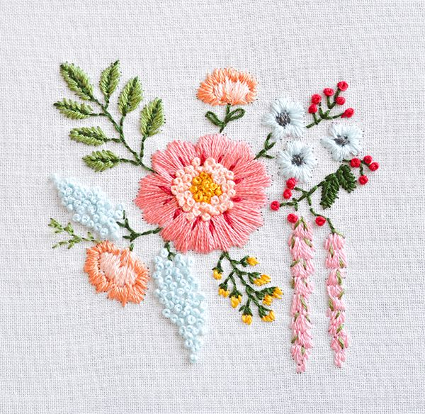 Down Grapevine Lane: Embroidered Bouquet Tutorial