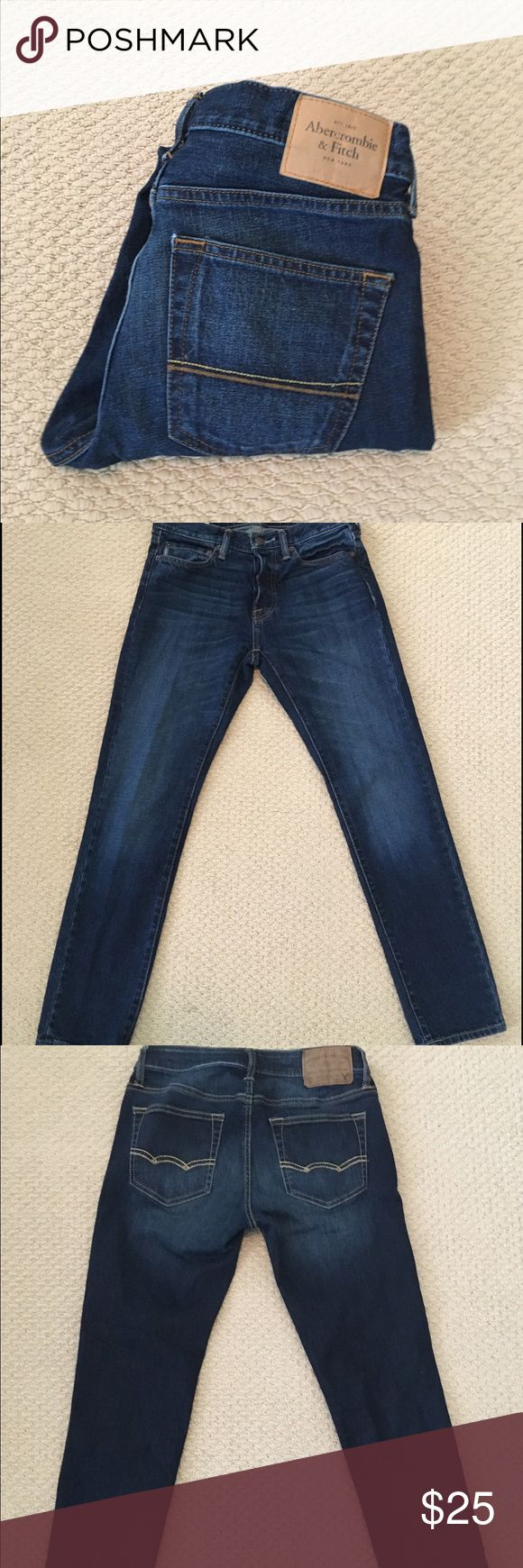 SALE!! EUC Abercrombie & Fitch Skinny Jeans 28x30 These men's skinny jeans from Abercrombie & Fitch are in perfect condition! The great, classic blue color make these jeans a great addition to your closet! Size 28x30 Abercrombie & Fitch Jeans Skinny