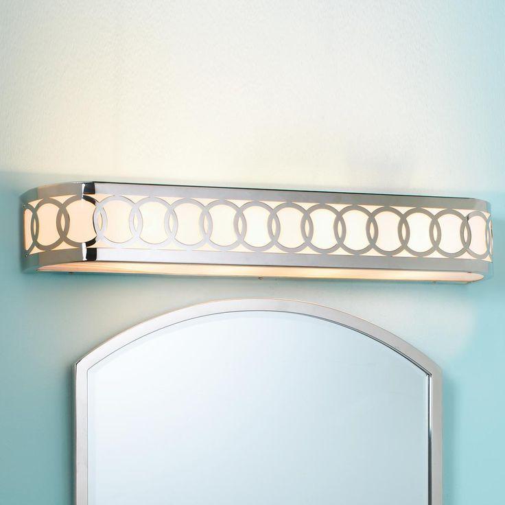 Ringlet Circles Bar Bath Light Good Match For Our Wallpaper In Powder Bath