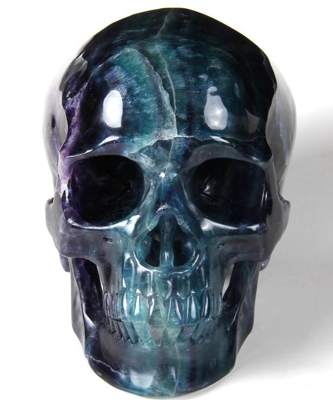 Fluorite Crystal Skull Sculpture