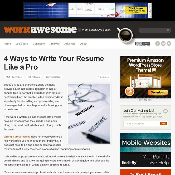 23 best Resume Tips images on Pinterest Resume tips, Resume - writing resume tips