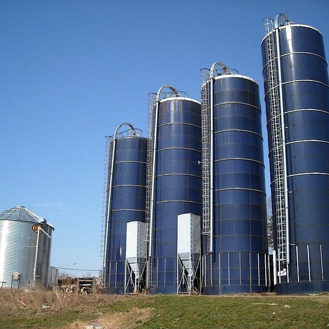 grain silo dalton you probably noticed the four tall blue silos the - Silos