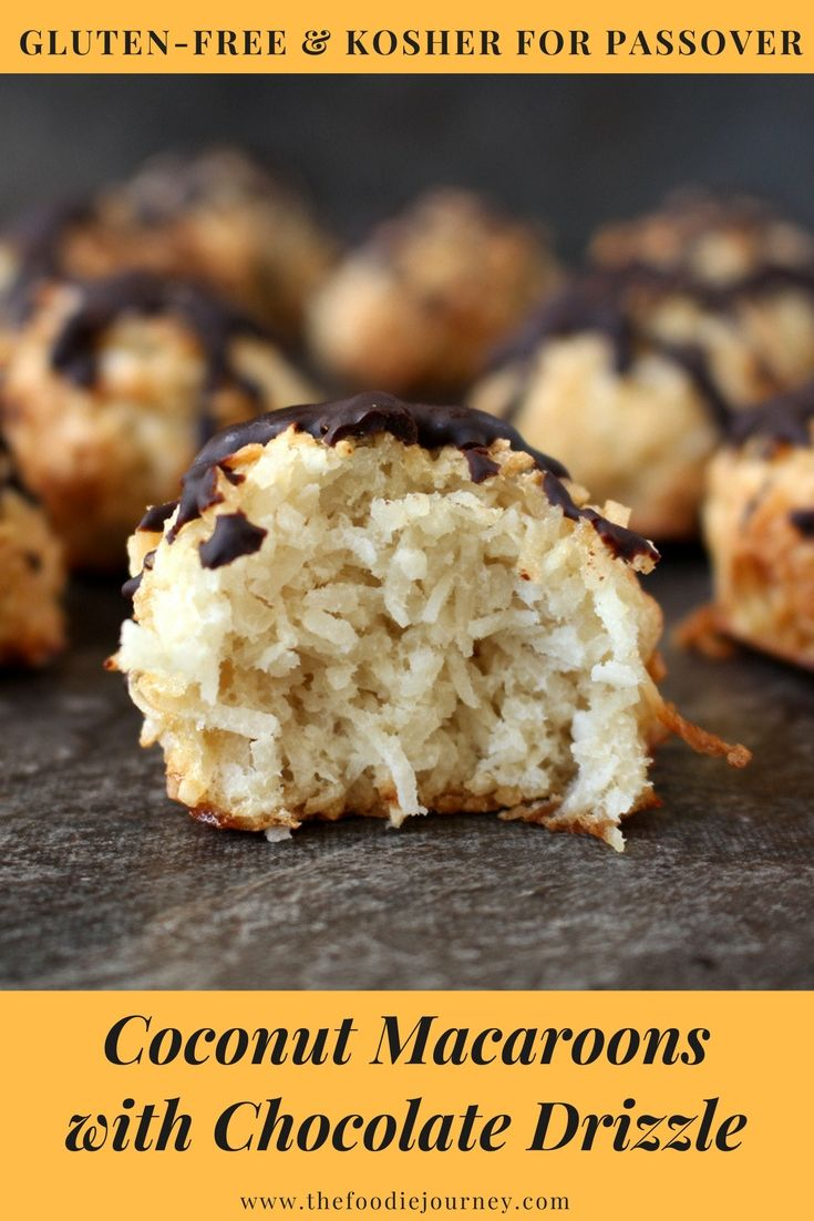 Coconut Macaroons With Chocolate Drizzle Coconut Macaroons