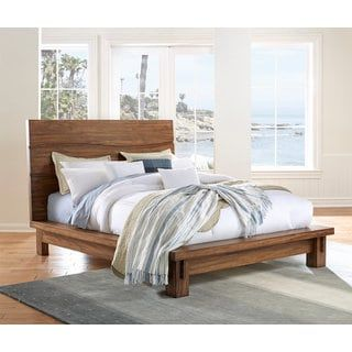 Shop for Ocean Solid Wood Platform Bed in Natural Sengon. Get free shipping at Overstock.com - Your Online Furniture Outlet Store! Get 5% in rewards with Club O! - 21014196
