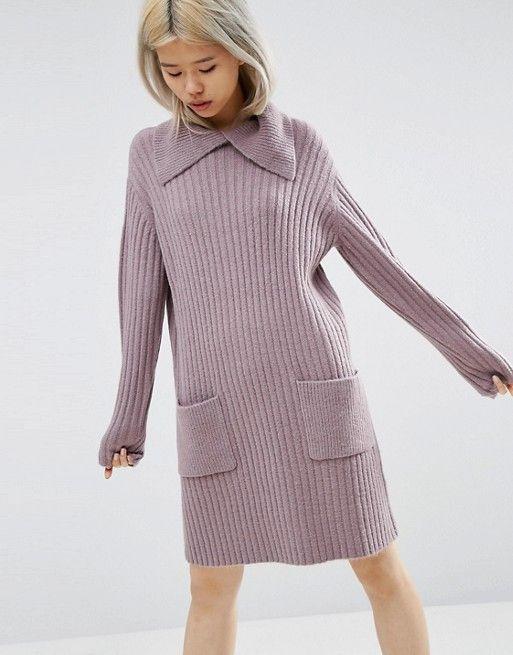 ASOS | ASOS Sweater Dress with Split Neck Detail