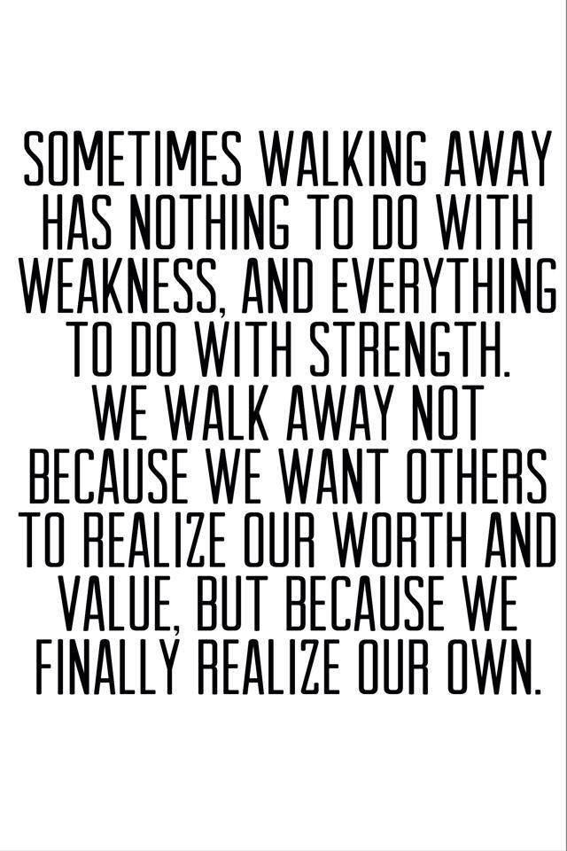 I realized I realized my worth ♡