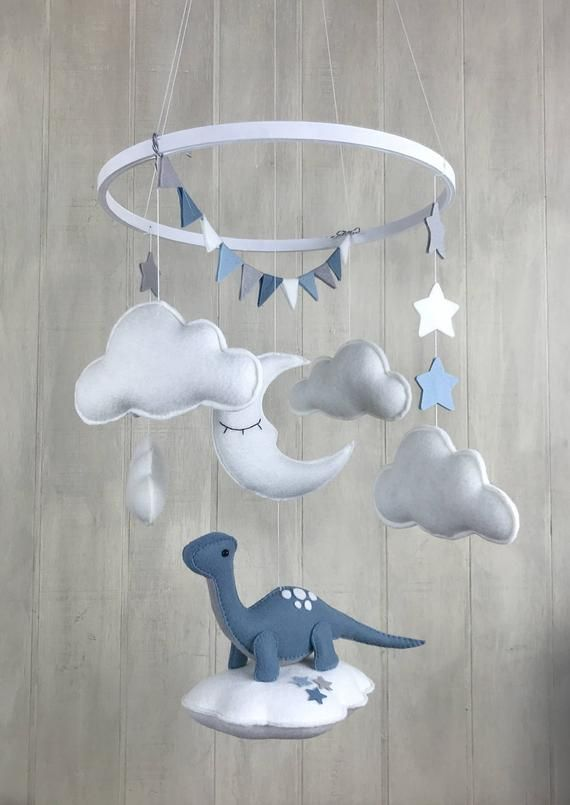 b9fa61e43a8fe Baby mobile - dinosaur mobile - gender neutral - sleeping moon ...