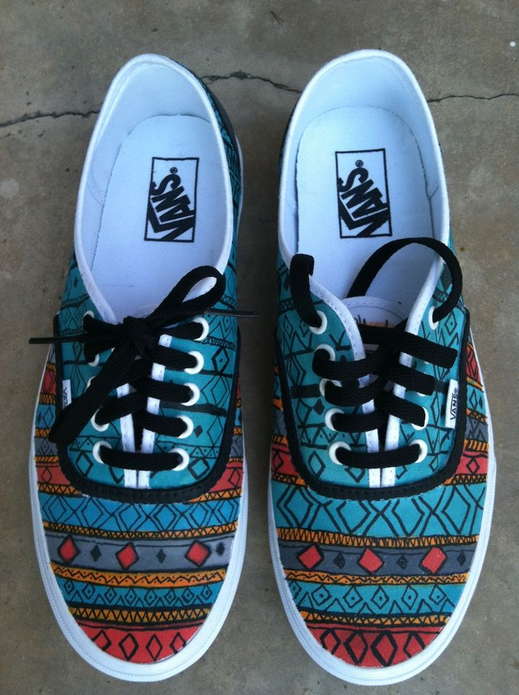Few iphone photos of a pair of Vans I painted today..