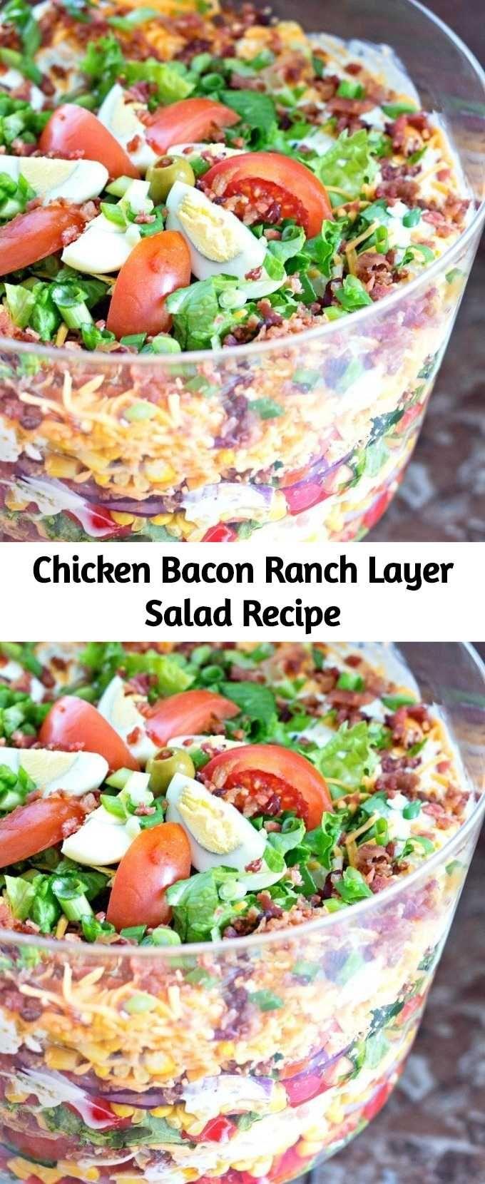 Chicken Bacon Ranch Layer Salad Recipe Mom Secret Ingredients Layered Salad Layered Salad Recipes Chicken Bacon