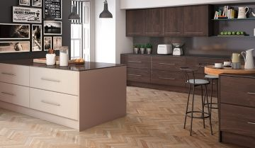 Bella Burnt Oak Matt Kitchen - By BA Components, kitchen doors, interior design